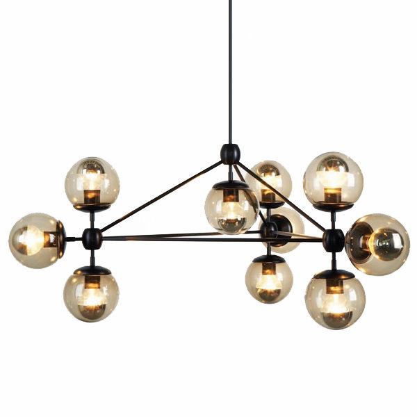 Люстра Modo Chandelier 10 Globes Black (1)