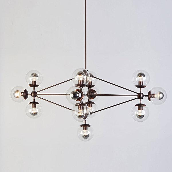 Люстра Modo Chandelier 13 Globes Black (1)
