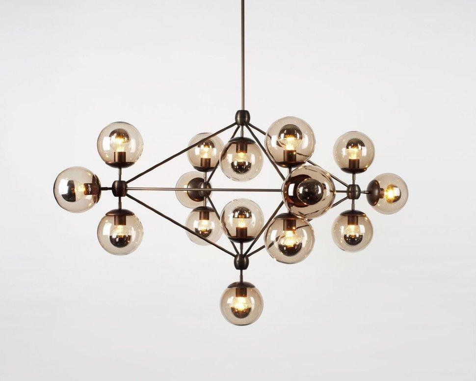 Люстра Modo Chandelier 15 Globes Black (1)