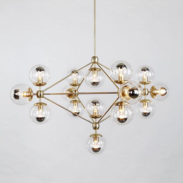 Люстра Modo Chandelier 15 Globes Gold