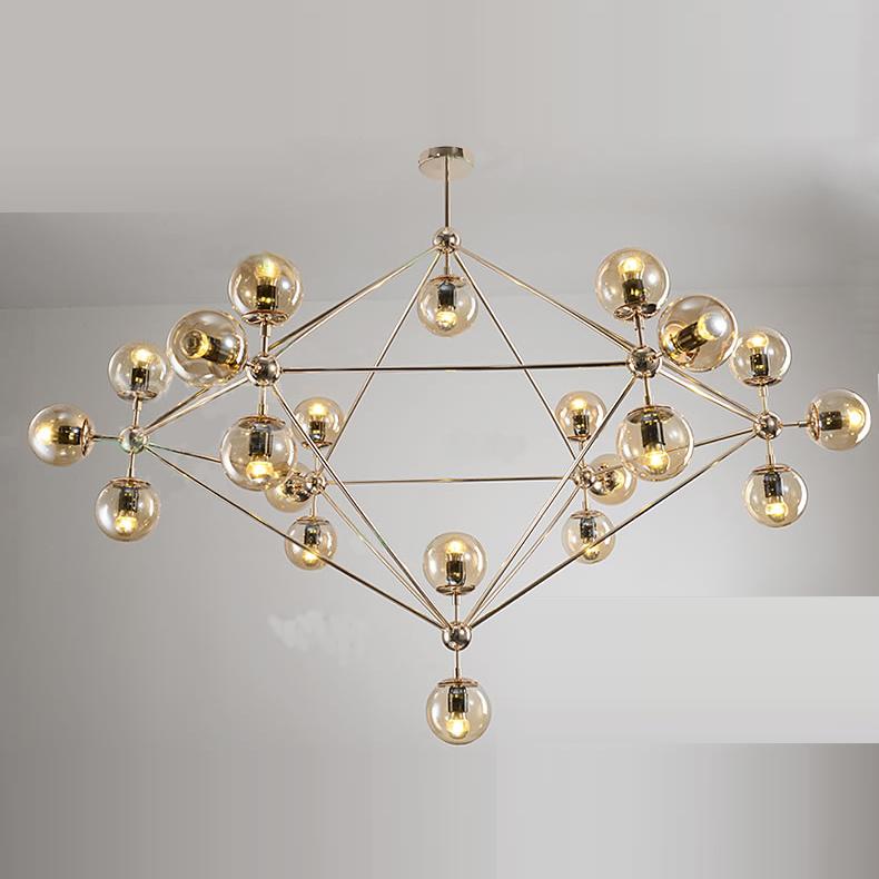 Люстра Modo Chandelier 21 Globes Gold