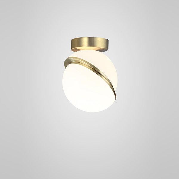 Crescent Ceiling Light Gold (1)