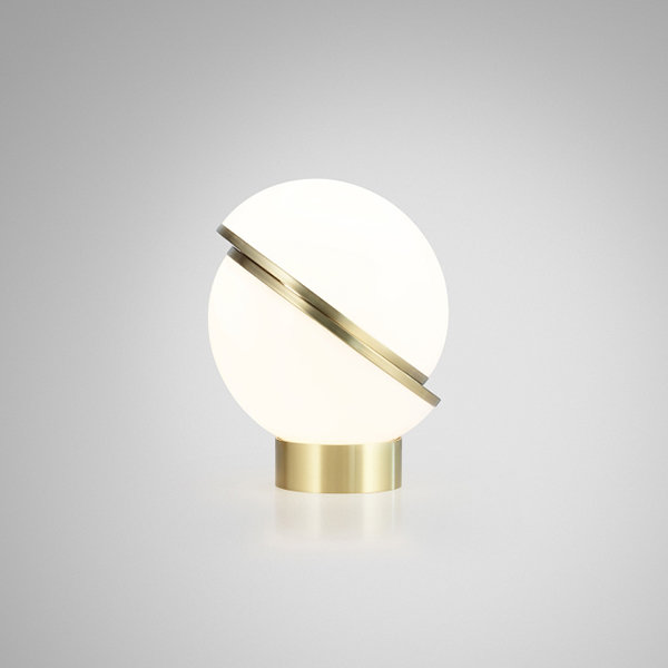 Crescent Table Lamp Gold (1)
