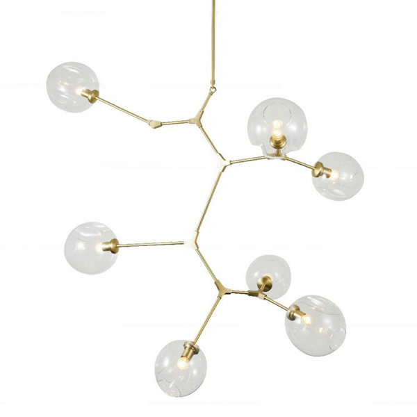 Люстра Branching Bubbles 7 Vertical Gold (1)