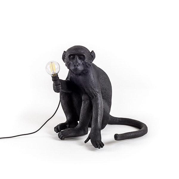 Seletti Monkey Black Table Lamp Настольная лампа (1)