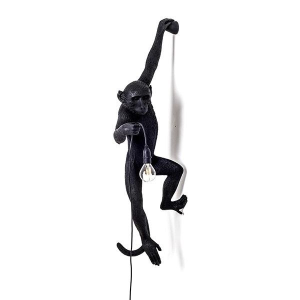 Seletti Monkey Black Wall Lamp (1)