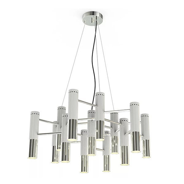 Люстра Delightfull Ike 13 Lamp White-Silver