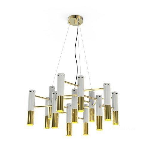 Люстра Delightfull Ike 13 Lamp White-Gold