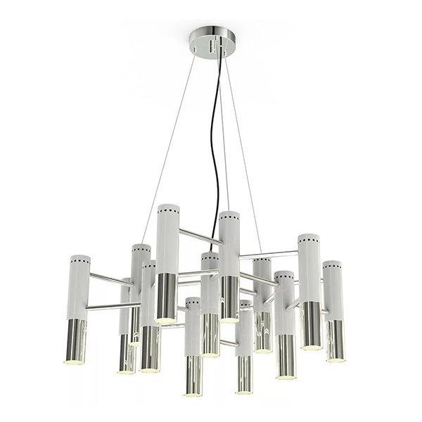Люстра Delightfull Ike 19 Lamp White-Silver