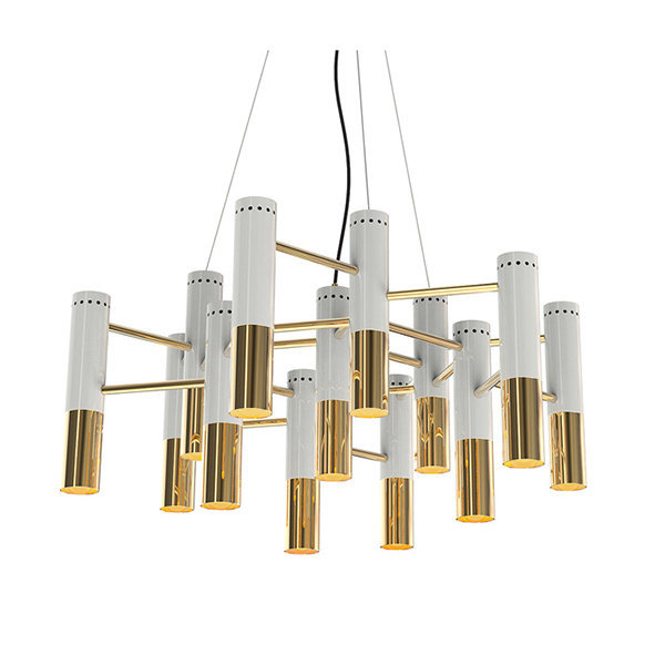 Люстра Delightfull Ike 19 Lamp White-Gold