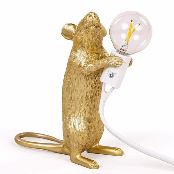 Seletti Big Mouse Lamp #1 Gold H25 Настольная Лампа Мышь
