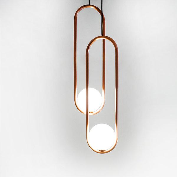 Подвесной светильник Mila Double Gold D18 by Matthew McCormick