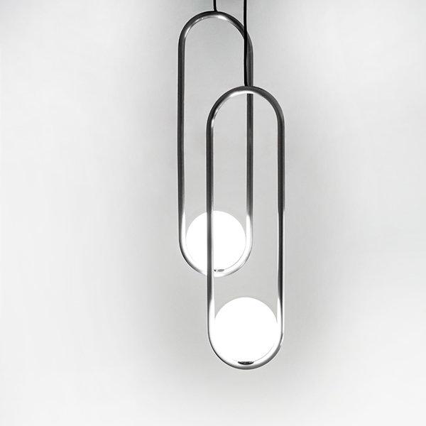 Подвесной светильник Mila Double Nickel D18 by Matthew McCormick