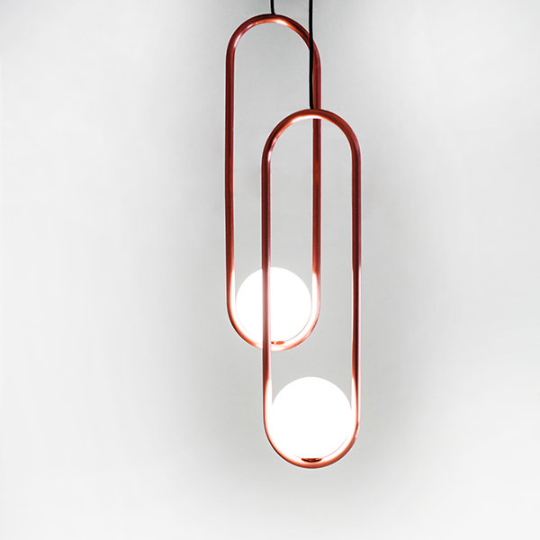 Подвесной светильник Mila Double Сopper D18 by Matthew McCormick