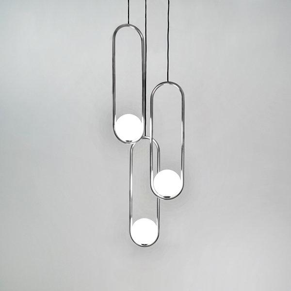 Подвесной светильник Mila Triple Nickel D15 by Matthew McCormick
