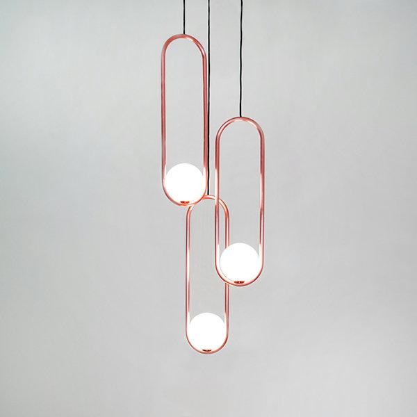 Подвесной светильник Mila Triple Сopper D18 by Matthew McCormick