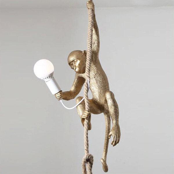Monkey Lamp Gold Right Светильник Подвесной