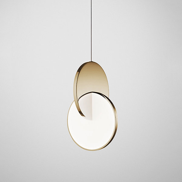 Светильник Eclipse Pendant Light Gold by Lee Broоm