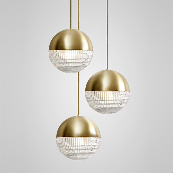 Lens Flair Chandelier 3 by Lee Broоm Gold