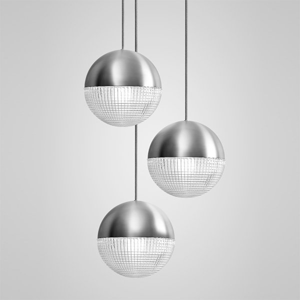 Lens Flair Chandelier 3 by Lee Broоm Chrome