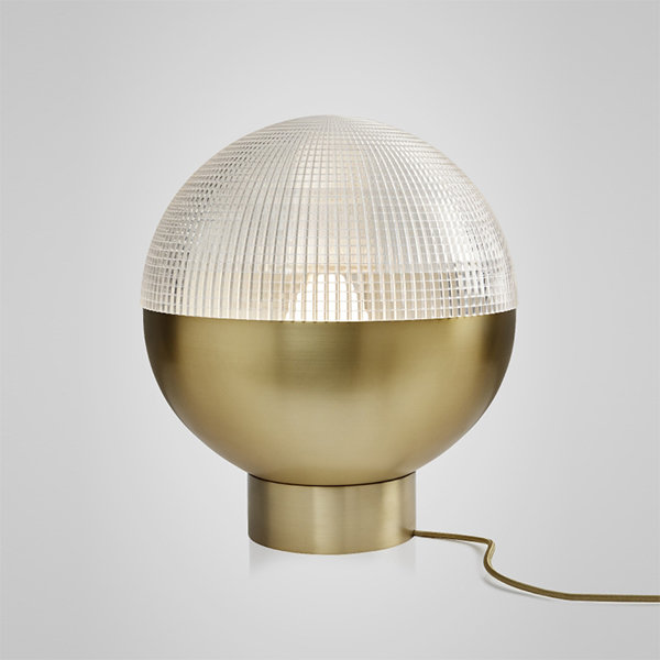 Lens Flair Table Lamp by Lee Broоm Gold