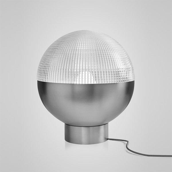 Lens Flair Table Lamp by Lee Broоm Chrome