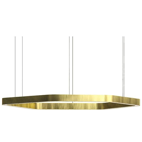 Henge Light Ring Horizontal Polygonal D100 Brass