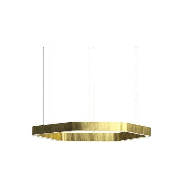 Henge Light Ring Horizontal Polygonal D60 Brass