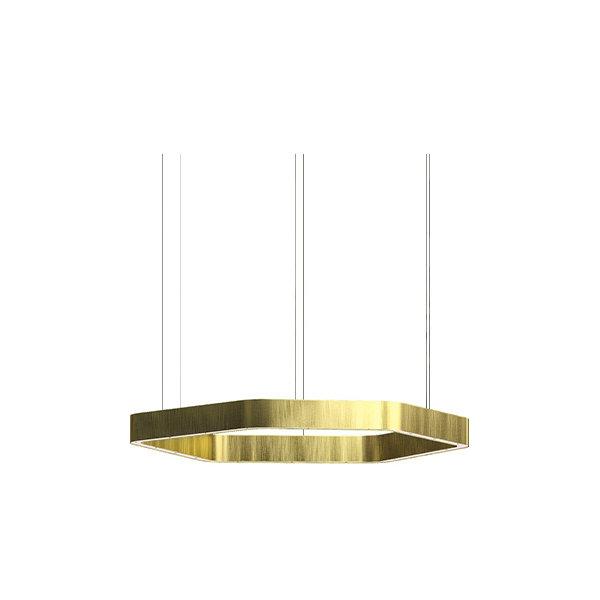 Henge Light Ring Horizontal Polygonal D50 Brass