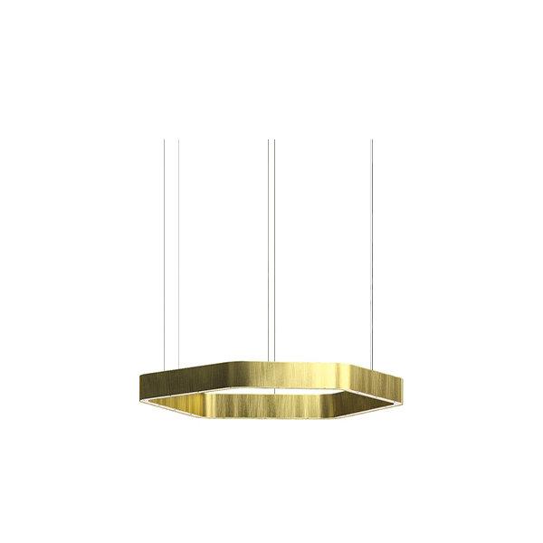 Henge Light Ring Horizontal Polygonal D40 Brass
