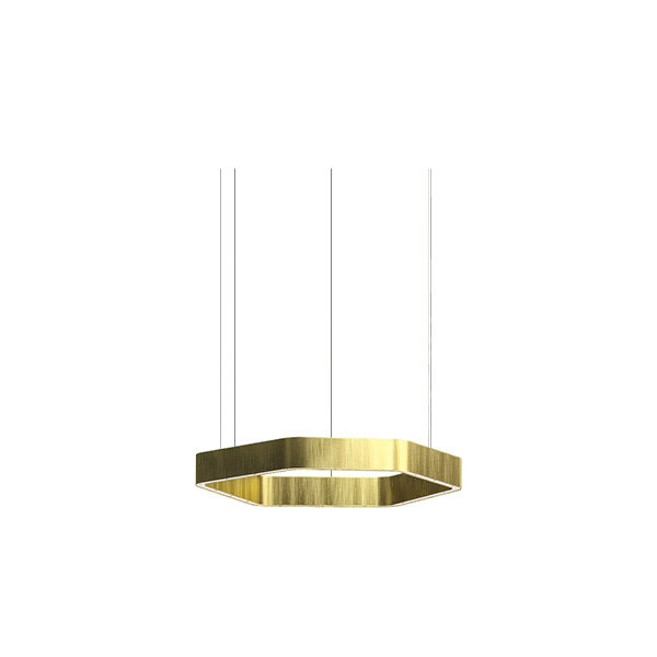 Henge Light Ring Horizontal Polygonal D30 Brass