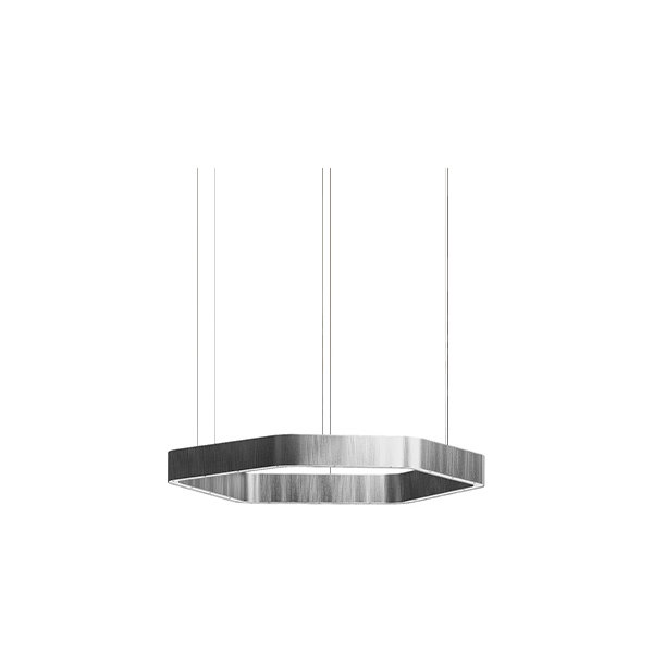 Henge Light Ring Horizontal Polygonal D40 Nickel
