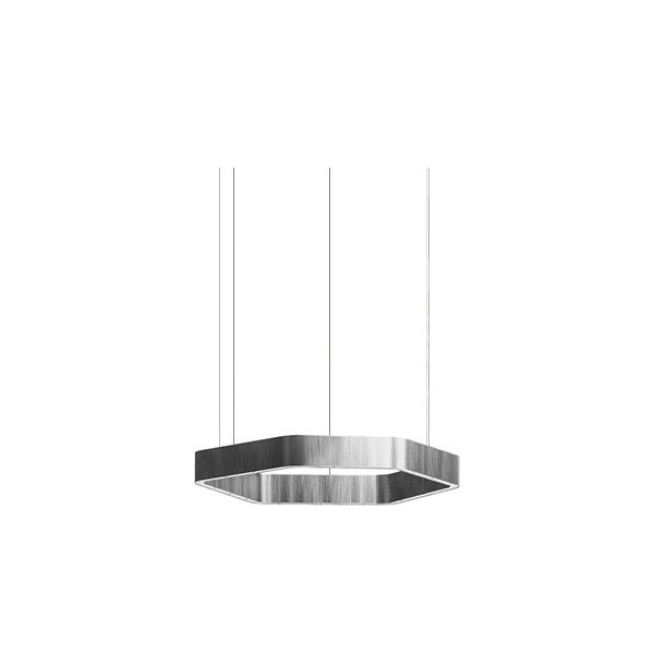 Henge Light Ring Horizontal Polygonal D30 Nickel