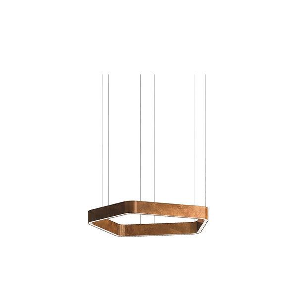 Henge Light Ring Horizontal Polygonal D30 Copper